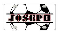 SOCCER Personalized Kids MINI LICENSE PLATE Any Name Bicycles Door Sign