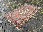 Turkish rug, Vintage rug, Handmade rug, Area rug, Wool, Carpet | 2,6 x 4,6 ft