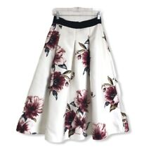 WHBM White House Black Market NWT Women's Skirt Long Lined Floral Size 2 Pockets