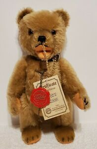 "Hermann - Circus Teddy Bear, LE of 2000, 11"" tall, Tan Mohair, TA w/COA"