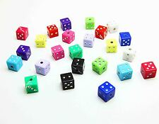 NEW Fun 30PCS Jewelry Square Beads Opaque Acrylic Cube Dice 7x7MM MIXED