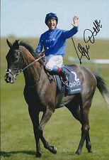 Frankie DETTORI Jockey Signed Autograph 12x8 Photo AFTAL COA Blue Bunting
