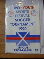 1990 Euro-Youth Sports Festival Soccer Tournament: Official Programme, In Scotla
