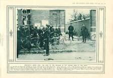 1914 RE ALBERTO DEL BELGIO nella zona pericolosa nella parte anteriore con le truppe BELGA