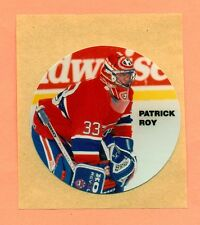 Patrick Roy Early 1990's Hockey Oddball Montreal Canadiens Puck Sized Sticker