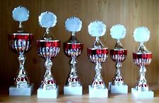 6 Pokale Serie gestaffelt mit Emblem #1050 (Sport Pokal Medaillen Gravur Sieger)
