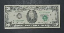 1974 $20 DISTRICT D 4 CLEVELAND OH OLD STYLE TWENTY DOLLAR BILL S#D60364256B