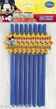 MICKEY MOUSE PLASTIC STRAWS (24) ~ Disney Birthday Party Supplies Favors Drink