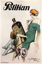 pelikan liquor vintage ad poster THEO MATEJKO germany CHERUB 1921 24X36 rare