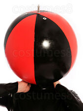 Latex Rubber Unique Mask Hood spherical Inflation Mask Versatile Size XXS-XXL