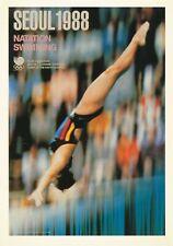 1988 Olympic Games Seoul, original postcard.