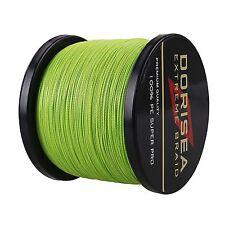Dorisea 100M-2000M Fluorescent Green Dyneema Braided Fishing Line 6LB-300LB
