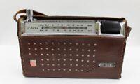 Vintage National Panasonic R-807J 2-Band 10 Transistor Radio & Leather Case