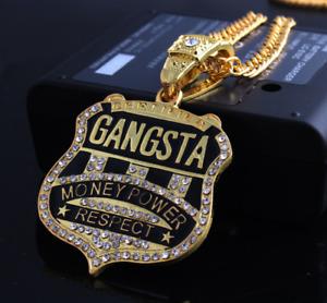 "Hip Hop MPR Gangsta Gold Platinum Plated Last Supper CZ Pendant 23"" Chain BING!"