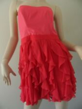 TOKITO fushia pink strapless ruffle cocktail dress size 14 BNWT
