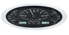 Dakota Digital 32 Ford Car Analog Dash Gauges System Black Alloy / White VHX-32F
