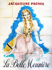 Affiche 120x160cm  LA BELLE MEUNIÈRE (1948) Marcel Pagnol - Jacqueline Bouvier #