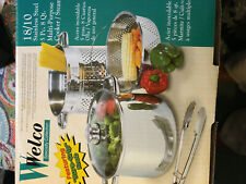 New listing welco specialty collection 8qt 18/10 Stainless Steel 5pc Multi Cooker