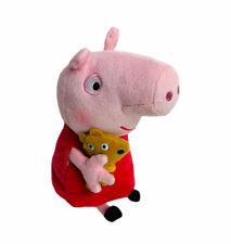 "Ty Beanie Babies Peppa Pig Plush Pink Red Dress Stuffed Animal Toy 6"""