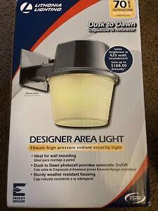 Lithonia Lighting Designer Area Light Dusk To Dawn Photocell Bronze Finish 70wat