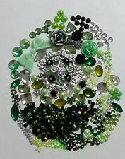 USA DIY 3D Bling Cell Phone Case Deco Green Flowers Rhinestones Pearl