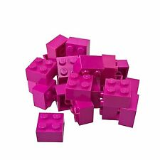 25 NEW LEGO Brick 2 x 2 BRICKS Dark Pink