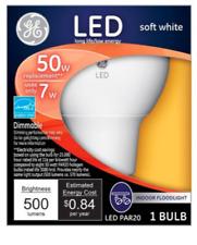 GE LED Indoor Floodlight Soft White 7 Watt 50 Watt Replacement Dimmable PAR20