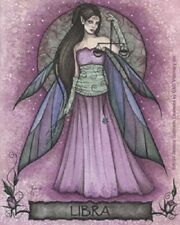 Jessica Galbreth LIBRA Zodiac Sign Faery Fairy Sticker Decal NEW The Scales