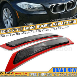 For 12-15 BMW F12 F13 F06 F10 SMOKE Front Bumper Reflector Side Marker Lights