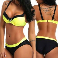Women's Bandage Bikini Set Push-up Pad Bra Brazilian Triangle Swimsuit Swimwear