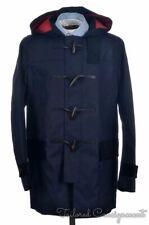 NWT $795 COACH Blue 100% Cotton Toggle MAC DUFFLE COAT Jacket 85638 - MEDIUM