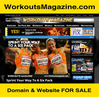 WorkoutsMagazine.com -- Exercise Fitness Diet Website Business & Domain For Sale
