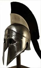 Greek Corinthian Helmet (black plume) re-enactment / larp / role-play / fancy-dr