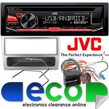 Vauxhall Meriva A 05-09 JVC AUTO STEREO CD MP3 USB y kit de montaje ISO Facia Plata