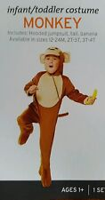 Infant Toddler Monkey Halloween Costume Outfit Banana Funny NEW