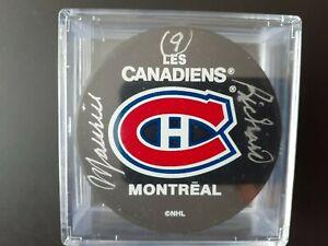Maurice Richard Montreal Canadiens Autographed Hockey Puck W/ COA