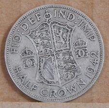 1942 George VI  Half Crown  50% silver Uk Coin