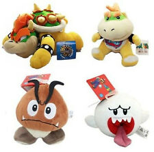 4X Super Mario Brothers Goomba/Boo Ghost/Bowser Koopa/Bowser Jr Plush Doll Toys