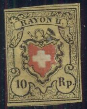 SWITZERLAND #8 1or yellow, black & red unused no gum