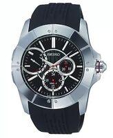 NEW Seiko Sports Men's LORD SNT027P2 Chronograph Black Dial Watch BNWT