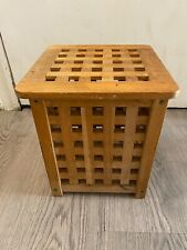 Vintage Wooden Foot Rest With Storage h 30 cm