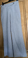 Per Una Ladies Linen Rich bootcut Roma Trousers Uk Size 10 Regular Grey BNWT