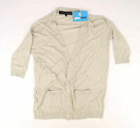 French Connection Womens Size XS Ivory Cardigan (Regular)
