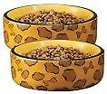 Animal Print Ceramic Cat/Dog Bowl