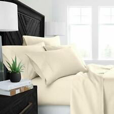All Item Fitted,Flat ,Duvet,Bed Skirt ,Size 100% Cotton 1000 TC Ivory  Solid