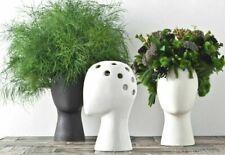 Ceramic Flower Vase Head Shape Porcelain Wedding Home Decoration Modern Style