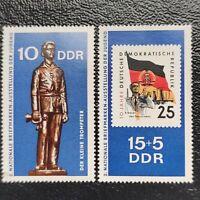 Alemania Oriental año 1970 2 Exposicion Nacional sellos Correos  Nº 1304 y 1305
