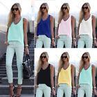 Fashion Women Summer Vest Tops Sleeveless Shirt Casual Tank Tops T-Shirt Blouse