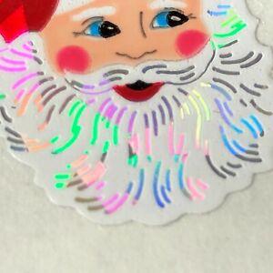 Sandylion Sticker Prism Santa Claus Head Face Prismatic Module Vintage Retired