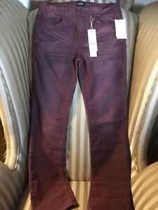 NWT Hudson Boys Kids Sz 20 Pants Corduroy burgundy